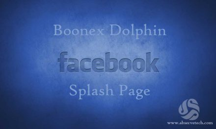Facebook Splash page for Dolphin