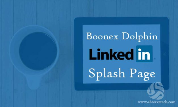 LinkedIn Splash page for Dolphin