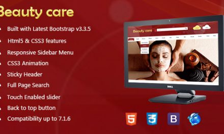 Beauty Care – Fully Responsive Animated Template