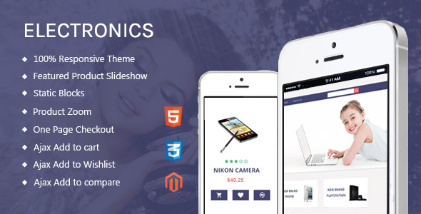 Electronics – Free Responsive Magento Template