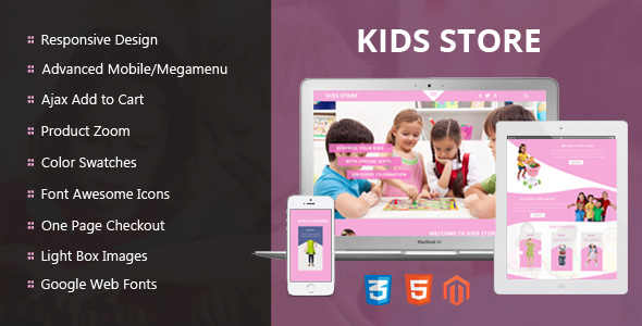Kids store – Ajax Animted Magento Responsive Theme