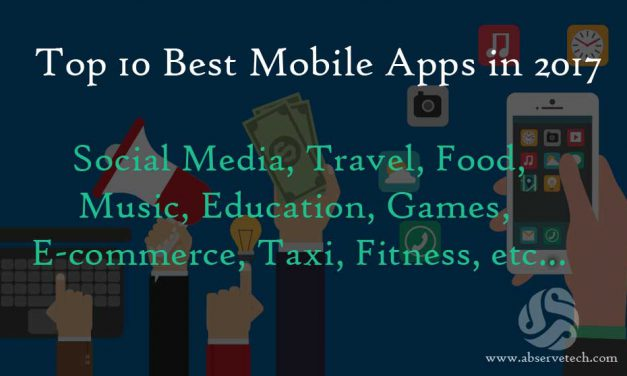 Top 10 Best Mobile Apps in 2017