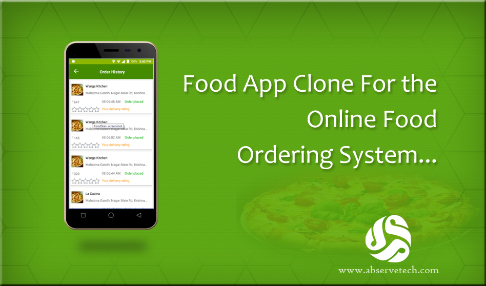 Food App Clone For the Online Food Ordering System