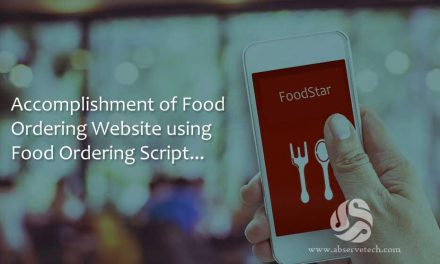 Accomplishment of Food Ordering Website using Food Ordering Script
