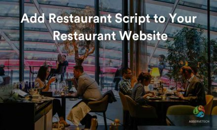 Add Restaurant Script to Your Restaurant Website