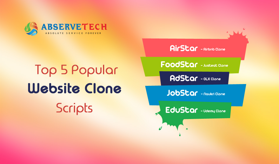 Top 5 Popular Website Clone Scripts