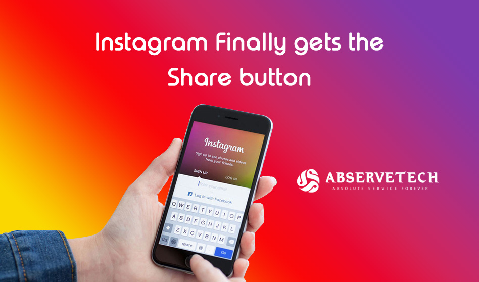 Instagram Finally gets the share button