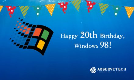Happy 20th birthday, Windows 98!