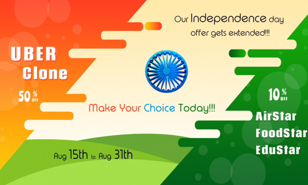 Exciting Independence Day Offers on Our Clone Scripts from Aug 15 to Aug 31