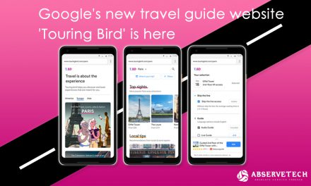 Google's new travel guide website 'Touring Bird'