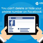 You can't delete or hide your phone number on Facebook