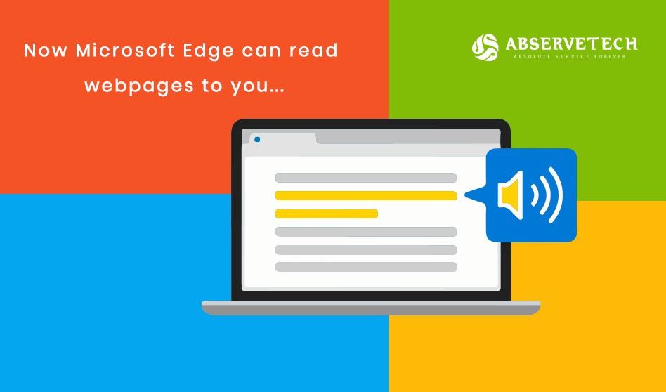 Now Microsoft Edge can read Web Pages to you